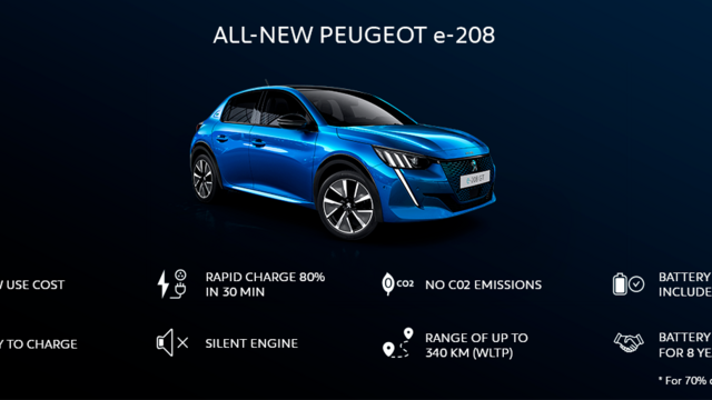 NEW PEUGEOT e-208  – Advantages of PEUGEOT 208