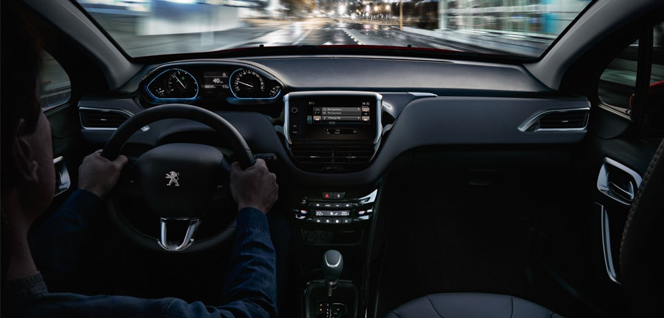 The peugeot 2008 test drive the compact suv from peugeot for Interieur verlichting auto