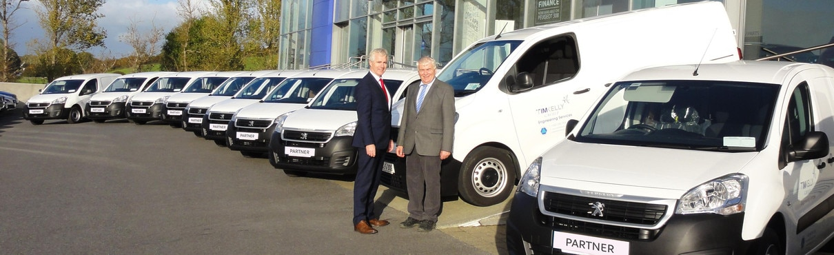 peugeot ireland | news | kenny galway delivers new peugeot fleet to