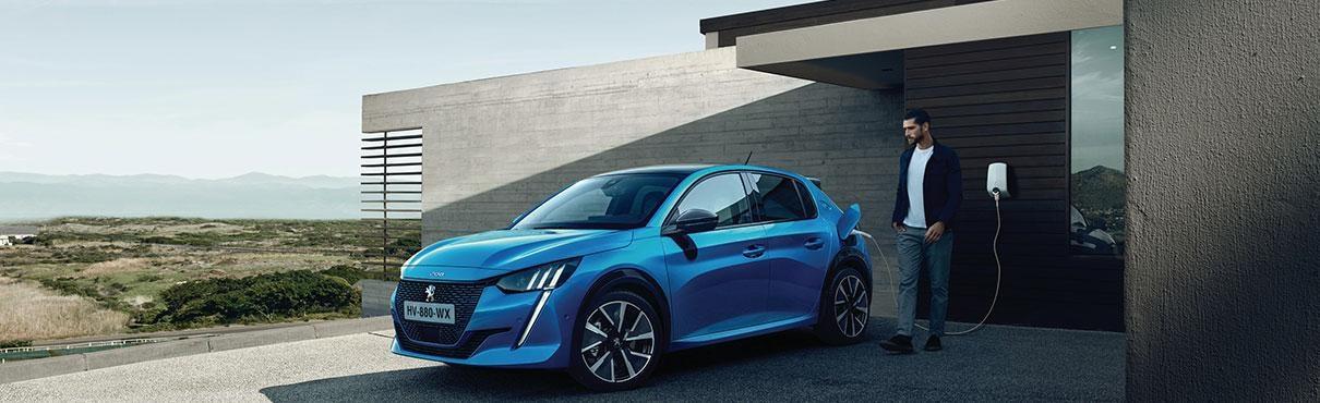 Peugeot 208 charging at home