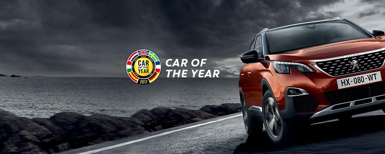 3008 SUV Car of the year showroom