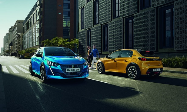 New 208 blue and yellow