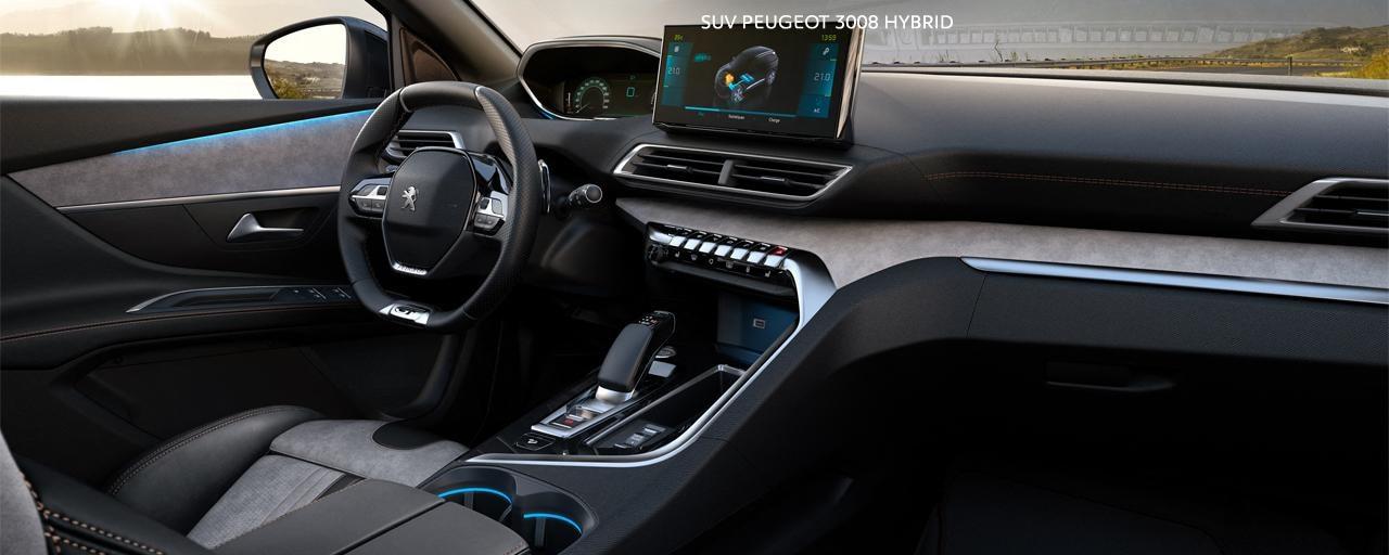 New PEUGEOT 3008 SUV hybrid -   Large hybrid interior