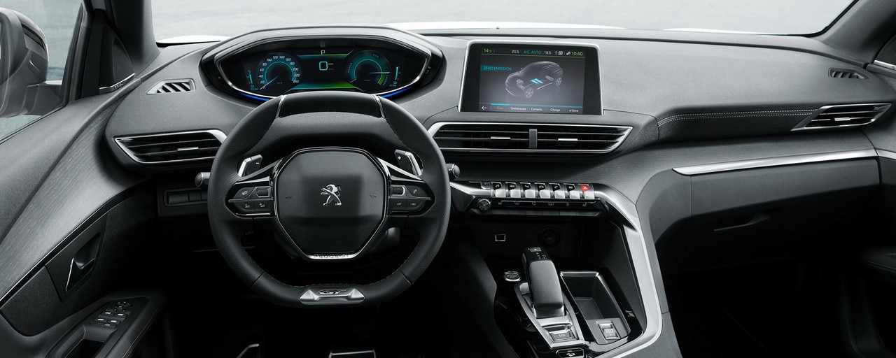 PEUGEOT PLUG-IN HYBRID: GT version with exclusive Alcantara® Gray Gréval trim with real « Grey Oak » aged wood finishes