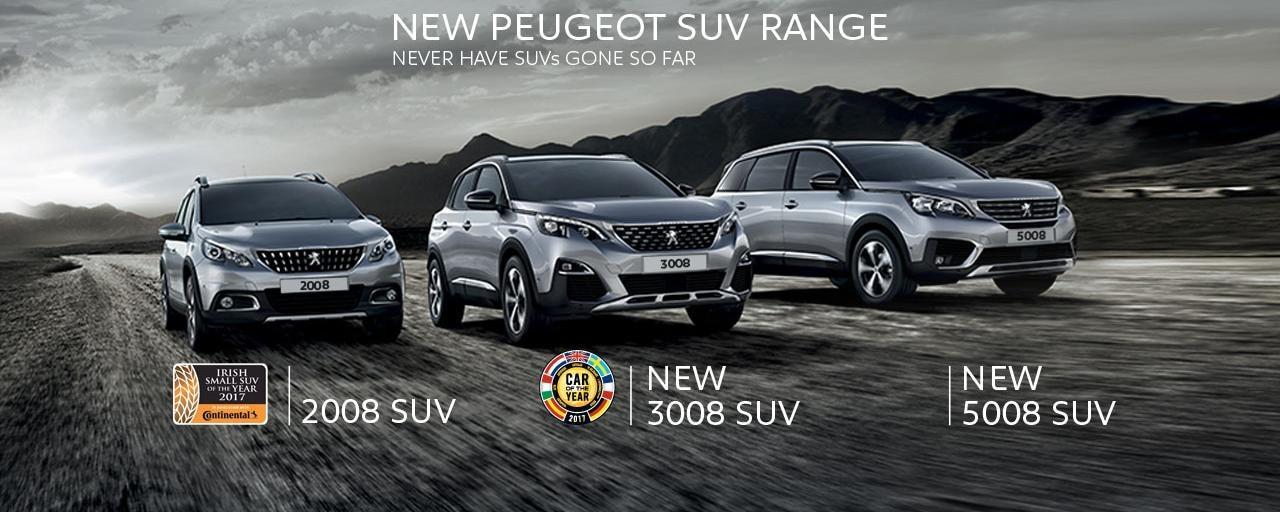 Peugeot SUV range slider image