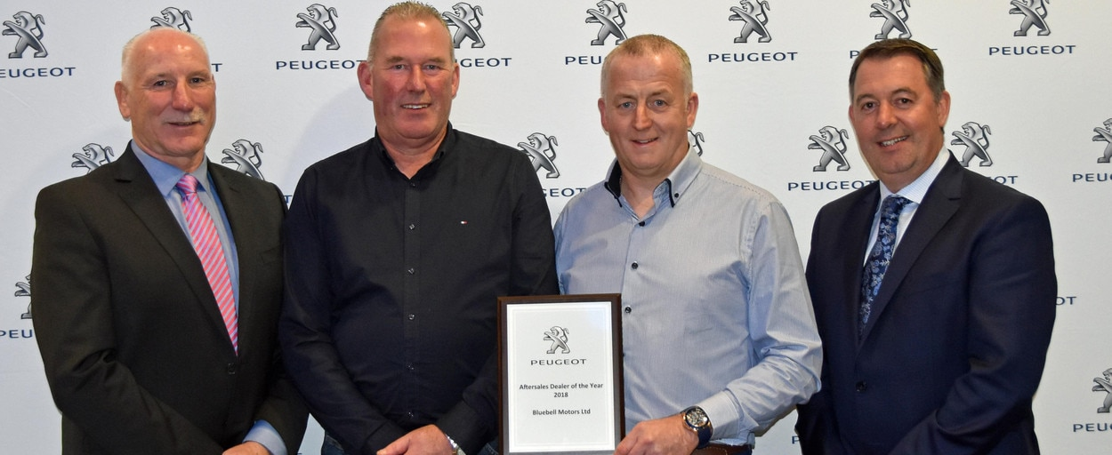 Bluebell Motor Co Peugeot Aftersales Dealer of the Year