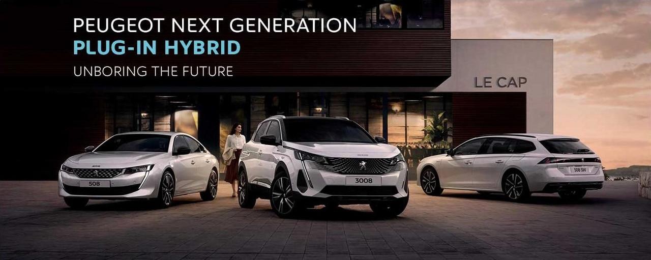 Peugeot Hybrid Range 2020 homepage