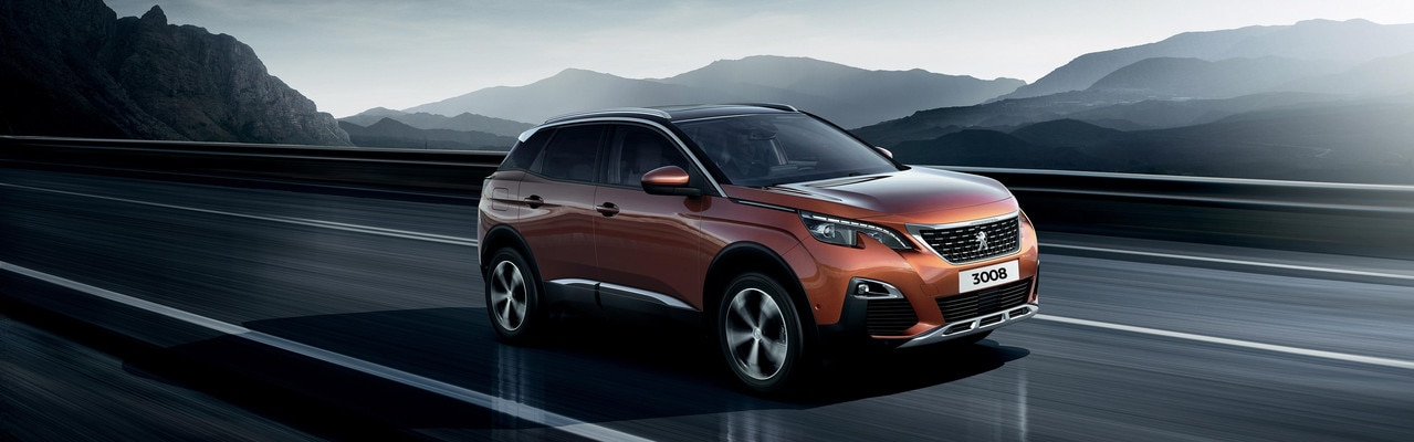 Peugeot 3008 with reg